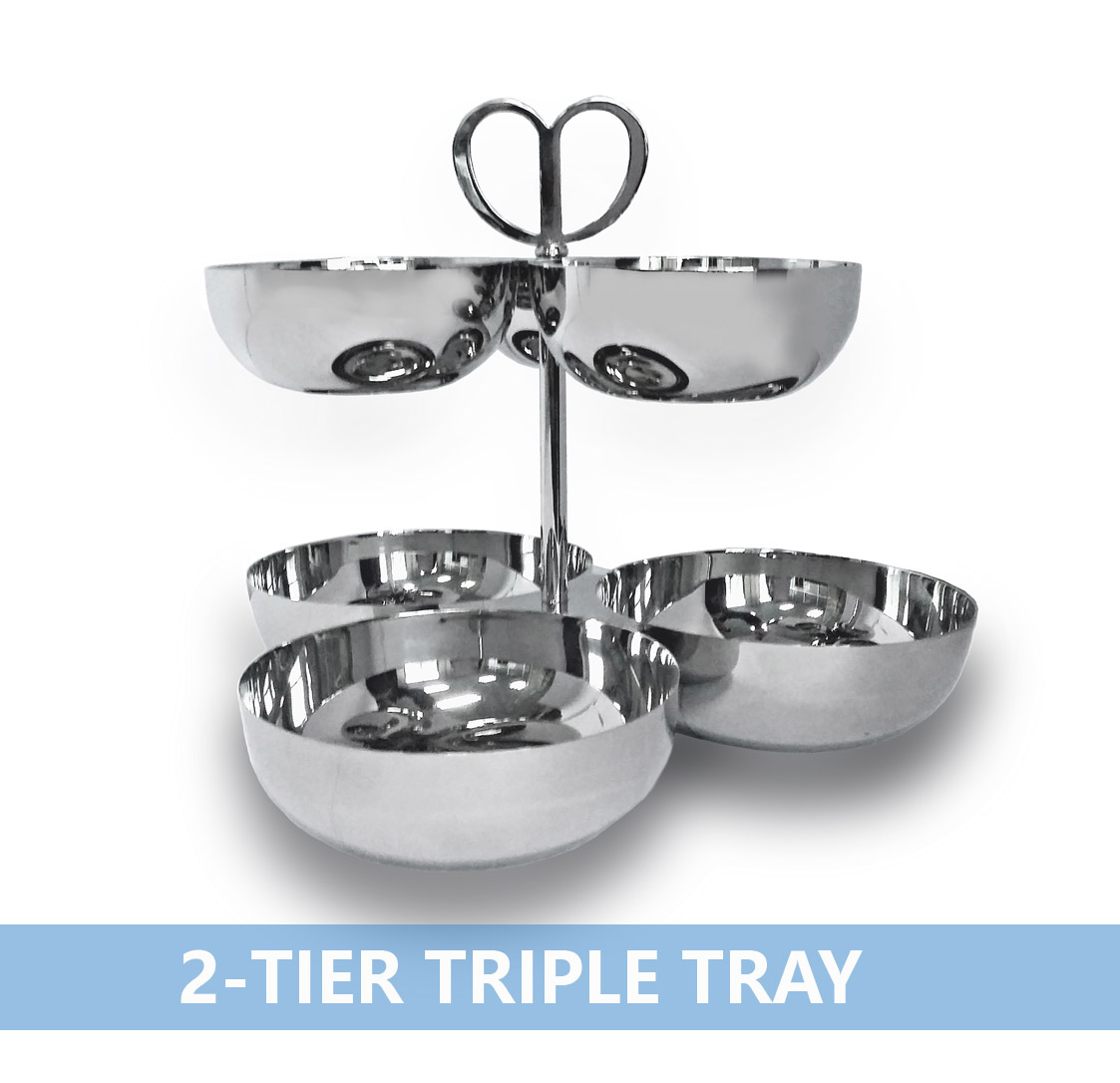 两层三格碗2-tier Triple Tray